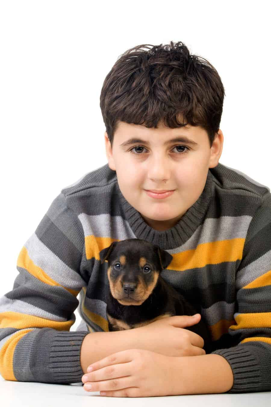 Are Rottweiler Puppies Good with Kids?